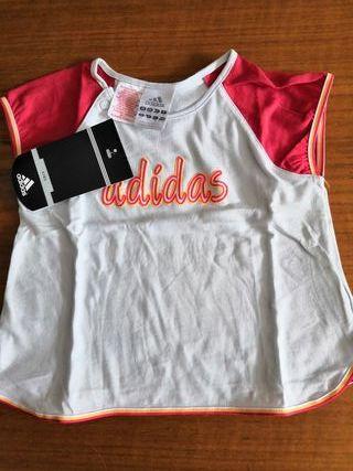 camiseta niña Adidas talla 2 años