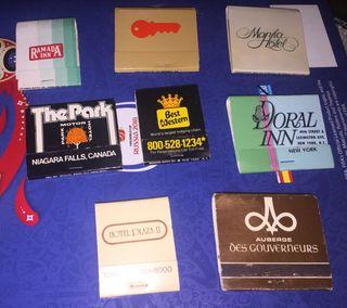 8 cajas de cerillas vintage