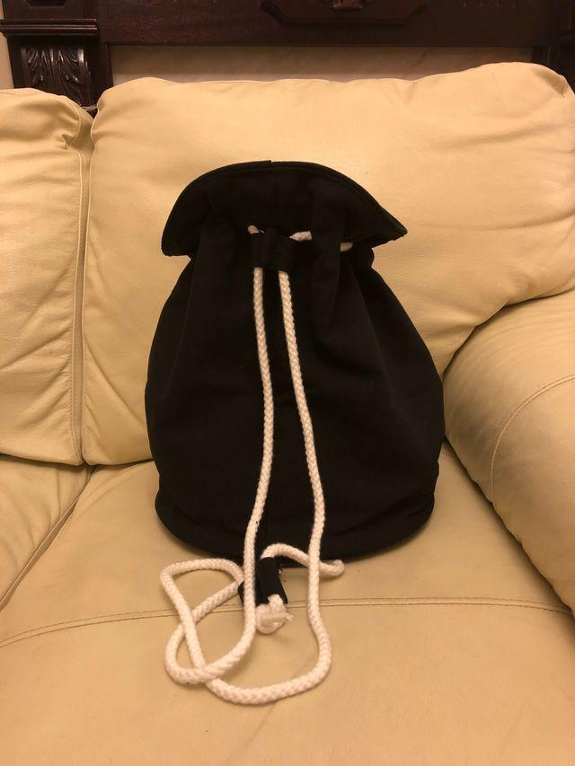 Chanel VIP Gift Canvas drawstring bucket bag.
