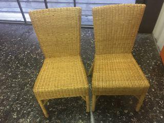 2 sillas mimbre ikea de segunda mano por 15 en barcelona - Sillas de mimbre ikea ...