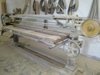 Maquinaria fábrica muebles Lija banda