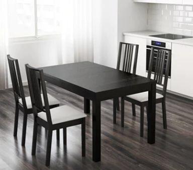 Mesa de comedor Extensible negra ikea de segunda mano por ...