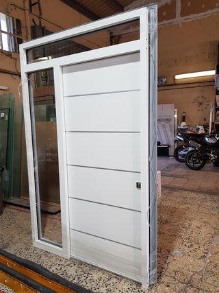 Puerta de entrada de aluminio de segunda mano en bellavista en wallapop - Puertas de entrada de segunda mano ...