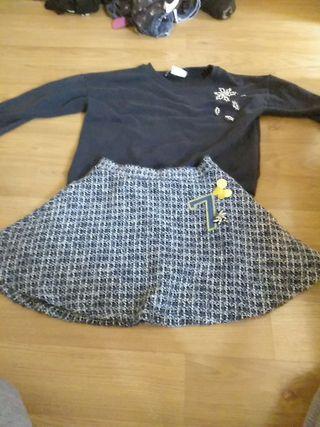 conjunto falda y sudadera