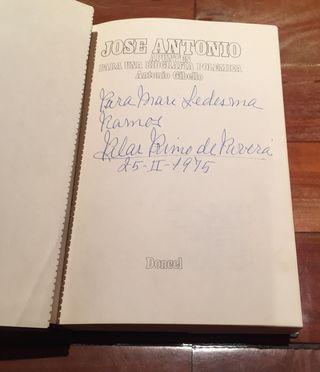Libro jose antonio primo de rivera firmado