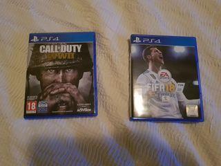 fifa 18 y Call of Duty ww2