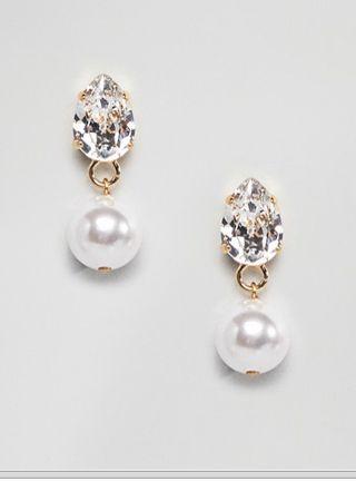 Pendientes cristal de Swarovski y perla