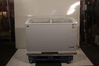 Arcón congelador puerta cristal 338 litros