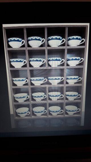 Docena de tazas sin plato .Porcelanas del Bidasoa