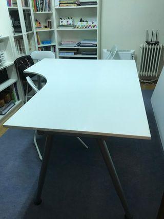Mesa despacho blanca de segunda mano en wallapop - Mesas de despacho segunda mano ...
