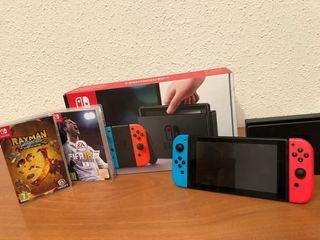 Nintendo switch + fifa 2018 + rayman