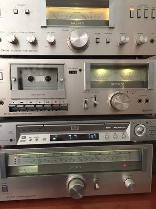 Amplificador y sintonizador Sony Vintage