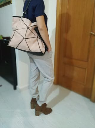 bolso de Blanco, rosa palo