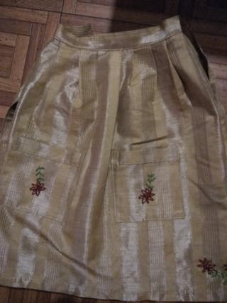 traje asturiana,mandil artesanal para niña