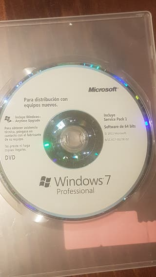 cd windows 7 profesional original con licencia