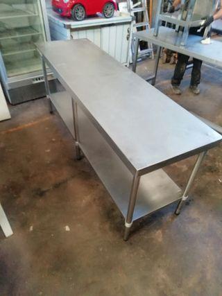 mesa banco acero inoxidable