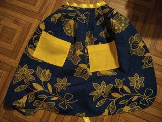 traje de asturiana,mandil artesanal para niña