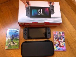 Nintendo Switch + 2 juegos + funda