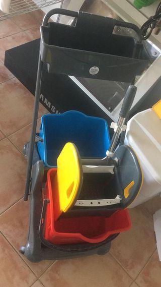 carro de 2 cubos + prensa