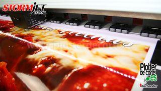 Impresora para rotulos vinilos pancartas camisetas