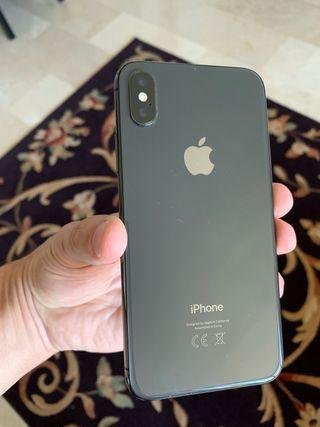 IPhone X 64gb negro con funda roja