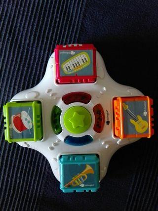 juego musical y luces