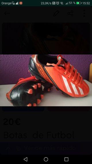 Botas tacos futbol n°34