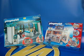 Lote 2 cajas Playmobil city action Cofre cuartel P