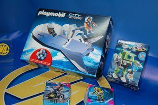 Lote 4 cajas Playmobil-Lanzadera espacial y 3 mas