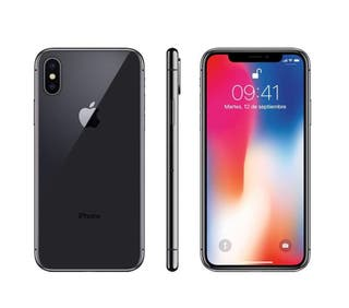 Iphone x 256gb gris espacial con protector
