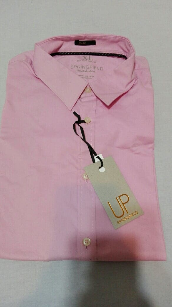 4afc4870c Camisa hombre Springfield rosa talla XL de segunda mano por 5 € en ...