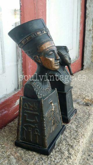Bustos bronce Egipto