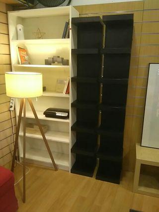 Estanteria negra diseño Ikea