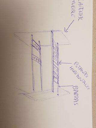 Estante mueble bajo lavabo o fregadero