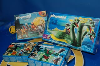 Lote 4 CAJAS Playmobil-KNIGHTS-completas!!