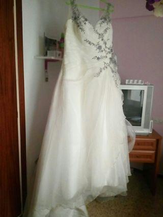 vestido de novia talla 46 de segunda mano en wallapop