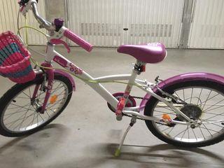 Bicicleta niña de 20 pulgadas.