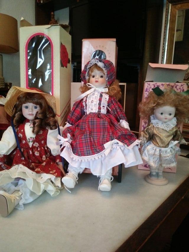 Muñecas de porcelana vintage de coleccionista