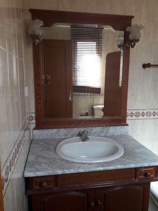 Mueble de ba o antiguo con espejo de segunda mano por 70 en alcobendas en wallapop - Muebles bano antiguos ...