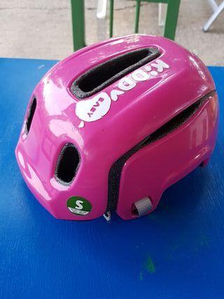 casco infantil rosa o azul