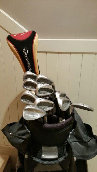 Bolsa y palos de golf Cobra/Taylor Made
