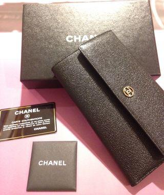 Chanel (original) cartera de mano piel