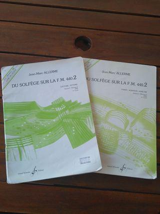 Libro solfeo DU SOLFEGE SUR LA F M 440.2