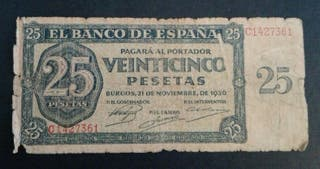billete antiguo español
