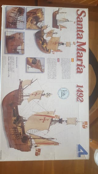 maqueta Santa María 1492