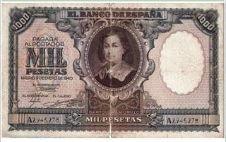 Billete 1000 pesetas 1940