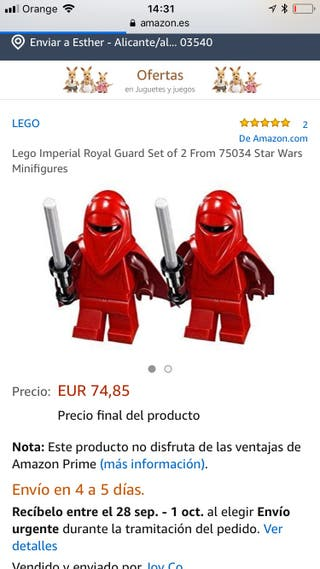 Mini figuras star Wars Lego 75034