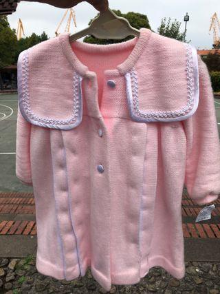 Abrigo bebe rosa