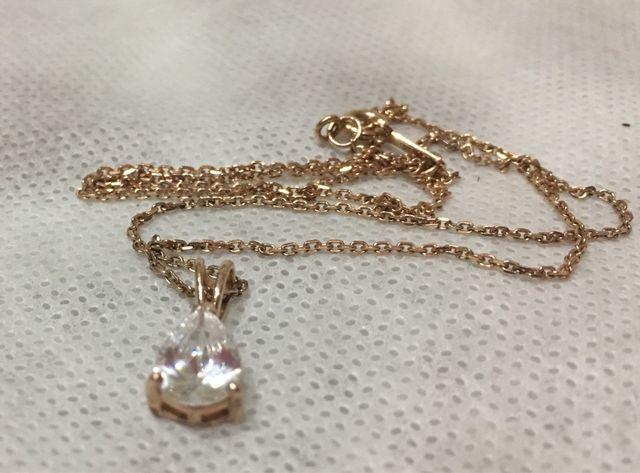 0ef6d118bb40 Cadena luxenter de plata bañada en oro rosa de segunda mano por 15 ...