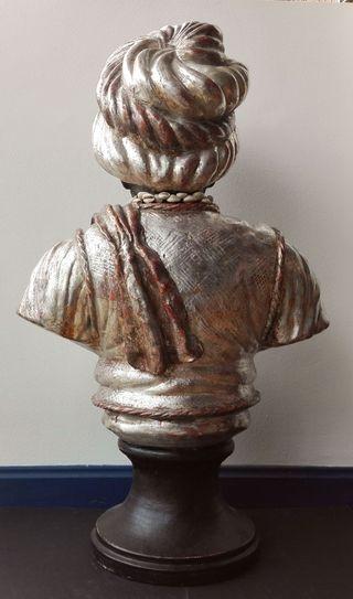 """Busto Escuela Italiana. """"Moro"""". Siglo XIX"""